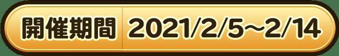 開催期間 2021/2/5〜2/14